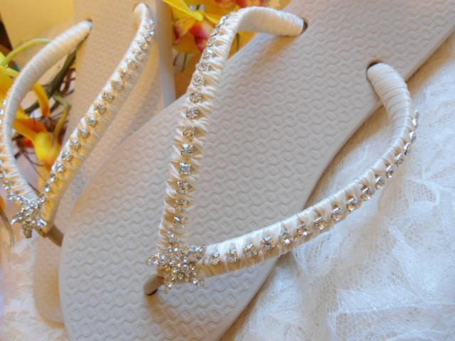 1c0f4f47e Ivory Bridal Flip Flops