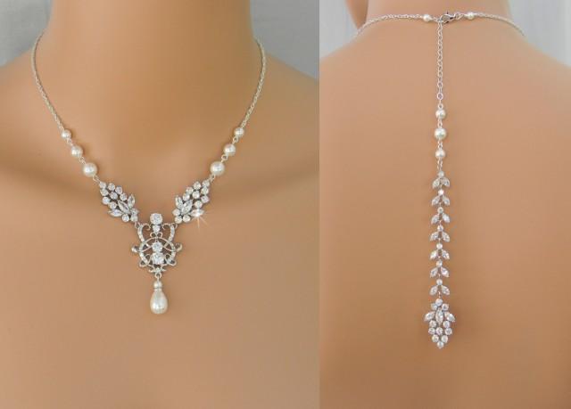 Bridal Necklace Backdrop Necklace Bridal Jewelry Set