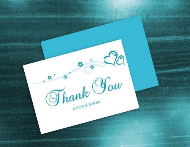 diy printable wedding thank you card template 2410844