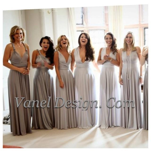 Silver Bridesmaid Gown