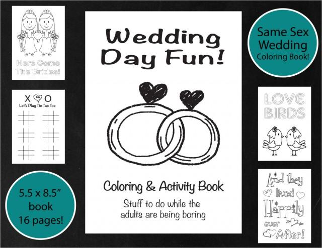 Same Sex Wedding Coloring amp Activity