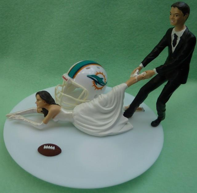 Soccer Themed Wedding Ideas: Wedding Cake Topper Miami Dolphins G Football Themed W