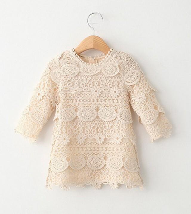 16ea582ef9850 Boho Style Vintage Long Sleeve Crochet Dress #2414660 - Weddbook