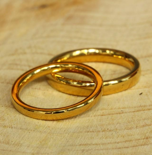 fort Fit 2 3 4mm Wide Filled 18ct Yellow Gold Plain Wedding