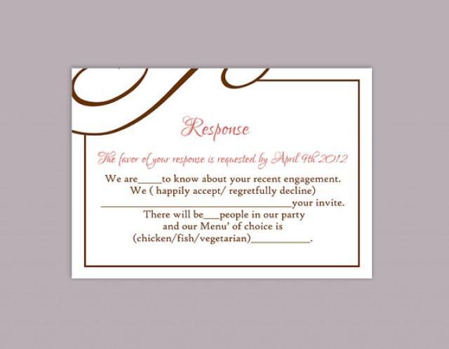 diy wedding rsvp template editable text word file download