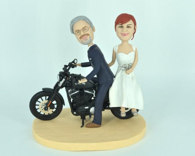 Personalized Harley Davidson Wedding Cake