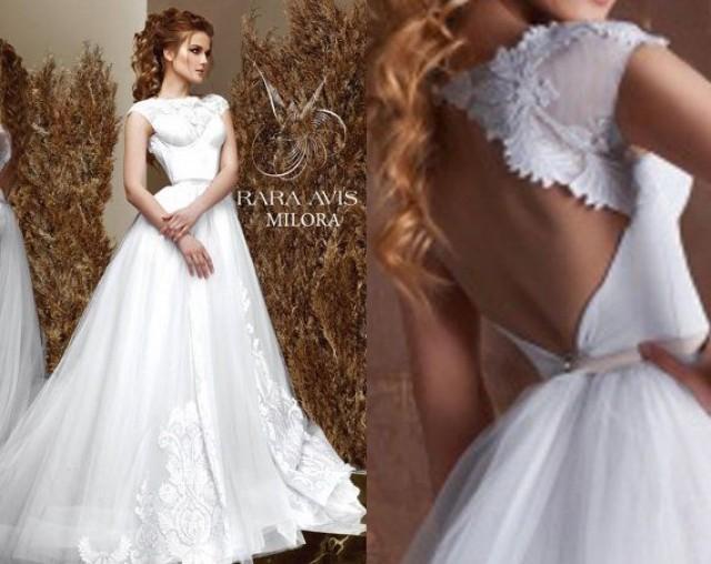 Bridal Gown MILORA Unique Wedding Simple Dress Bride Boho Princess 2416282