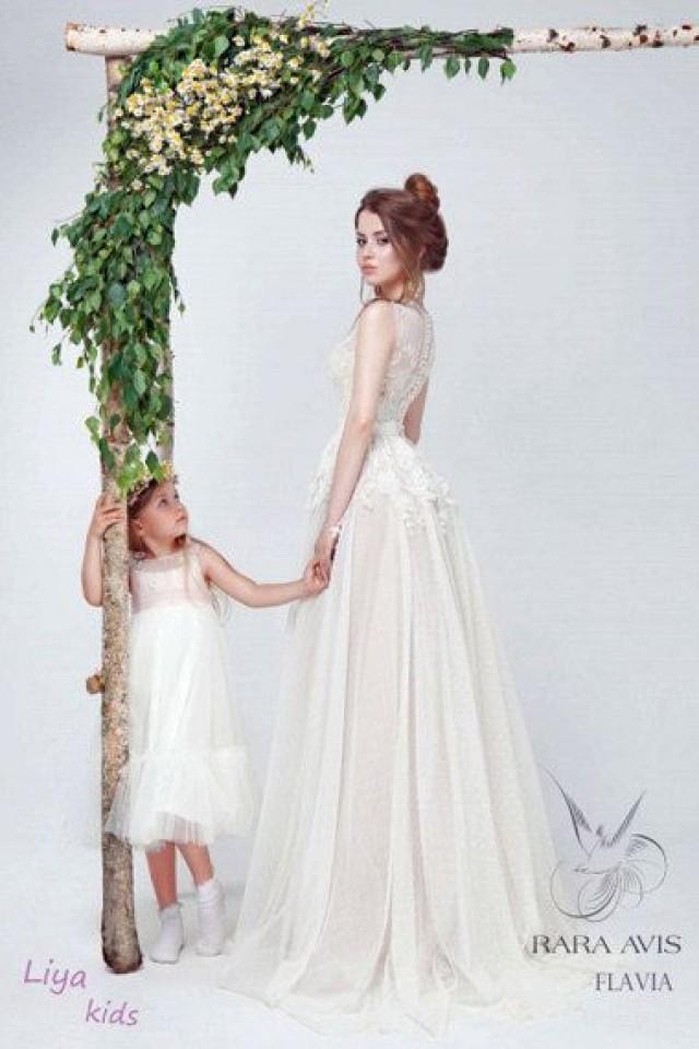 Bridal Gown FLAVIA, Boho Wedding, Wedding Dress Vintage ...