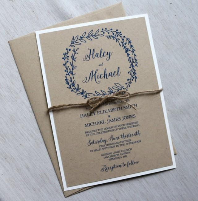 Rustic Wedding Invitation, Modern Wedding Invitation