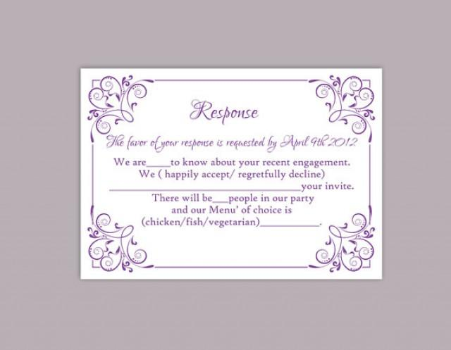 diy wedding rsvp template editable text word file download printable rsvp cards lavender rsvp
