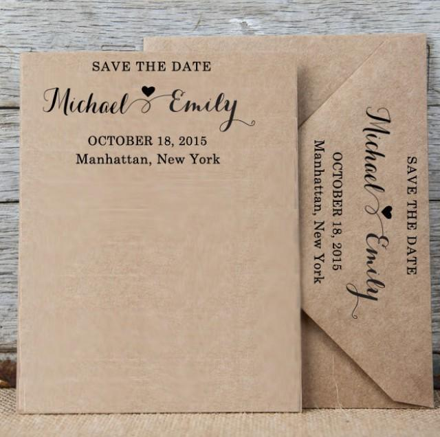 Wedding Invitation Rubber Stamps: Custom Save The Date Stamp, Personalized Rubber Stamp