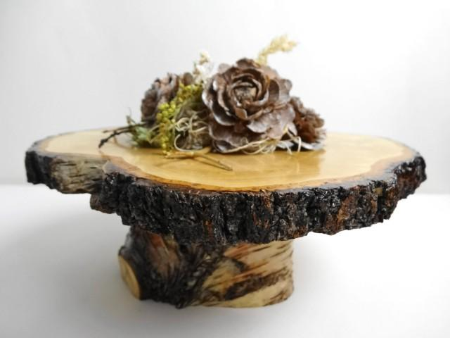 8 Quot 9 Quot Tree Cake Stand Rustic Wood Stand Wood Display