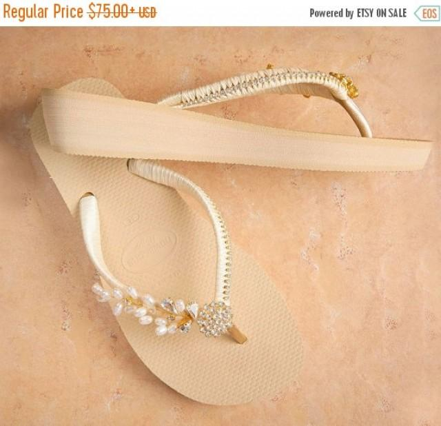 3426acfe462 ON SALE Bridal Wedges Flip Flops