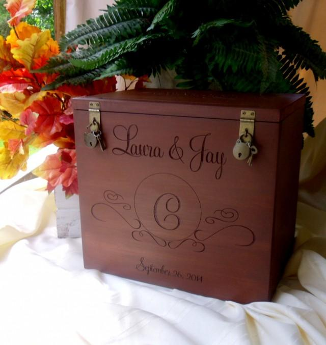Card Boxes Wedding Gift Idea: Wedding Card Box, Rustic Wedding, Gift Card Box, Wedding