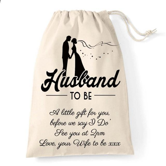 A Great Wedding Gift: Personalised Wedding Gift Bag For The Husband To Be, A