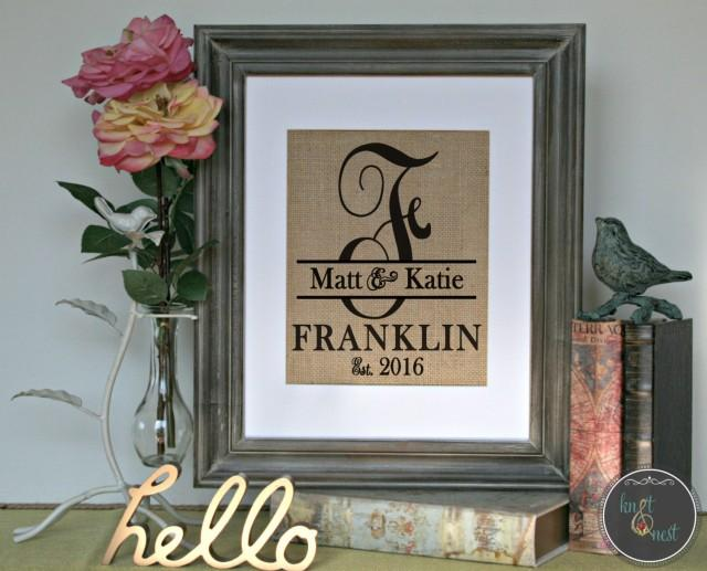 Monogrammed Wedding Gift: Personalized Wedding Gift, Wedding Shower Gift