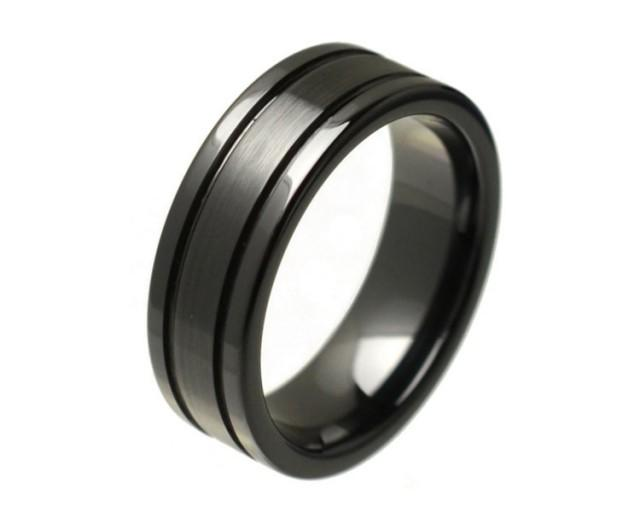 mens ring mens wedding ring promise rings for him promise ring for men black ceramic ring. Black Bedroom Furniture Sets. Home Design Ideas