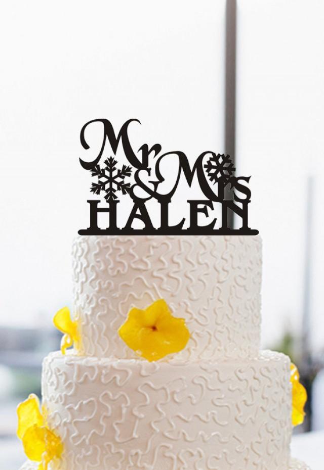 Mr And Mrs Wedding Cake Topper-Acrylic Cake Topper-Snowflake Cake ...