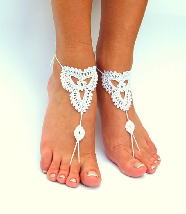 Crochet Barefoot Sandals, Beach Wedding Shoes, Wedding ...