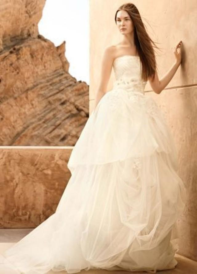 White By Vera Strapless Organza Wedding Dress Style Vw351162 2422384 Weddbook
