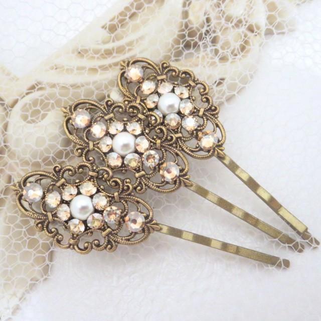Wedding Hair Pins Bridal Hair Pins Bobby Pins Swarovski