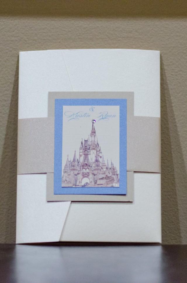 Cinderella Wedding Invitation Disney Fairytale