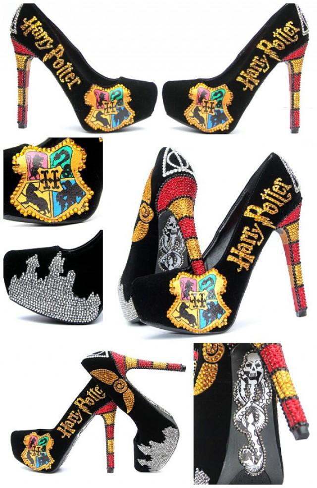 Harry Potter Heels Hand Painted With Swarovski Crystals ...