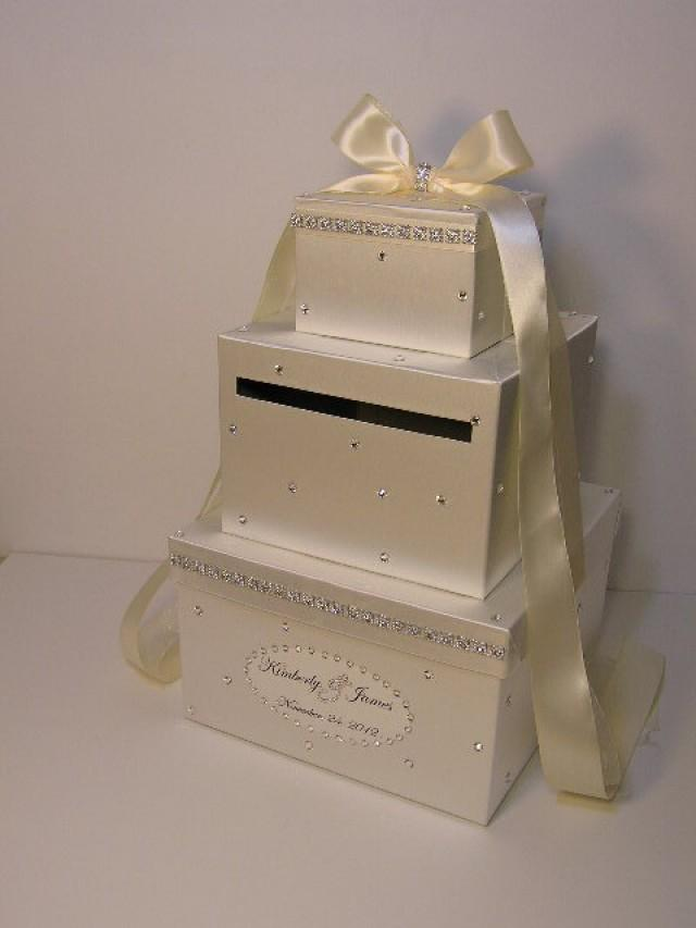 Ivory Wedding Card Box Gift Money Holder Customize Your Color 2427250