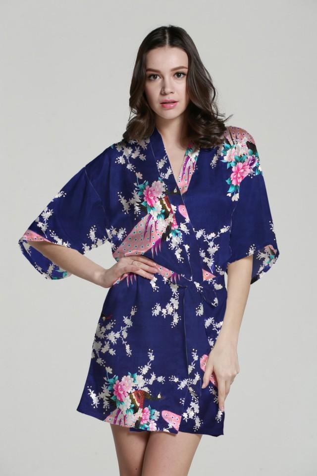 Baby Kimono Robe Kimono Maxi Dress Silk Kimono Dressing Gown Satin ...