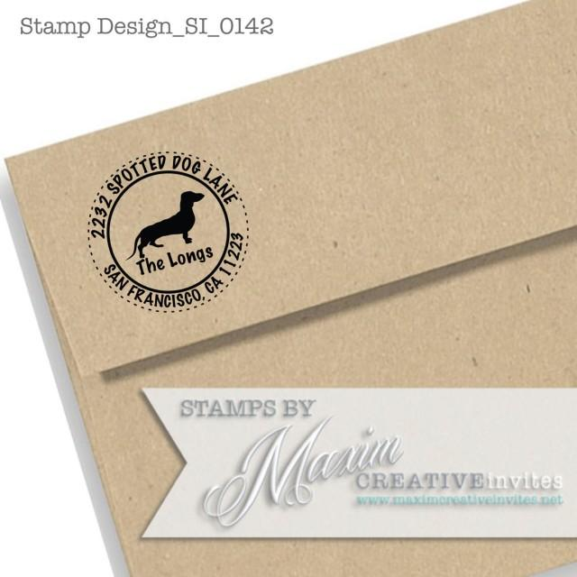 Dachshund Dog Self Inking Rubber Stamp