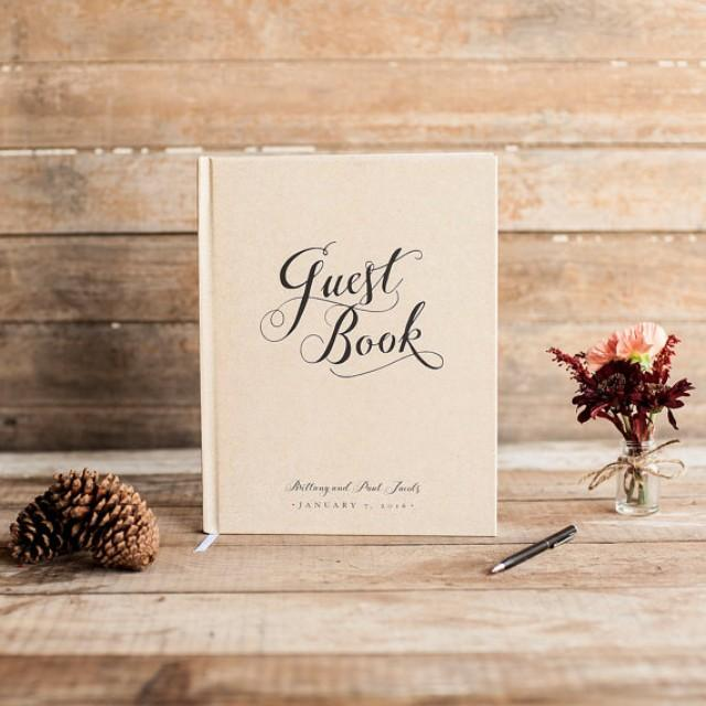 Wedding Guest Book Wedding Guestbook Custom Guest Book