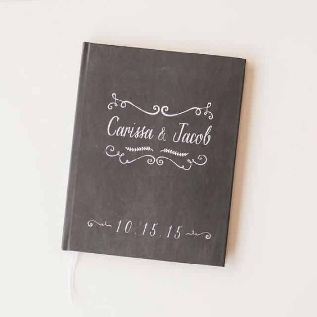 chalkboard wedding guest book wedding guestbook personalized chalk board wedding book engagement gift bridal shower sign in book rustic 2428991 weddbook
