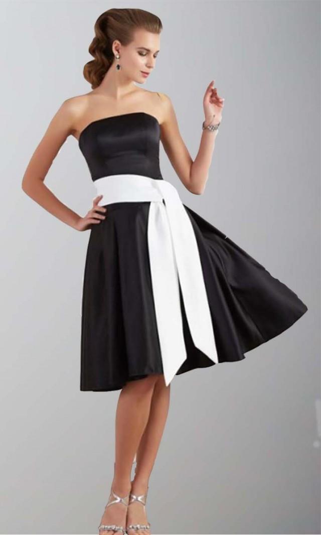 Classic Black Strapless Short Bridesmaid Dresses Ksp342 Ksp342