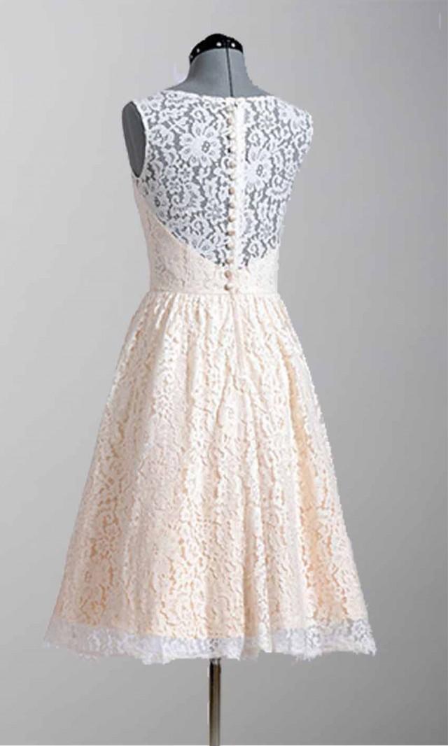 Knee Length Modern Lace Vintage Wedding Party Dresses KSP296 [KSP296 ...