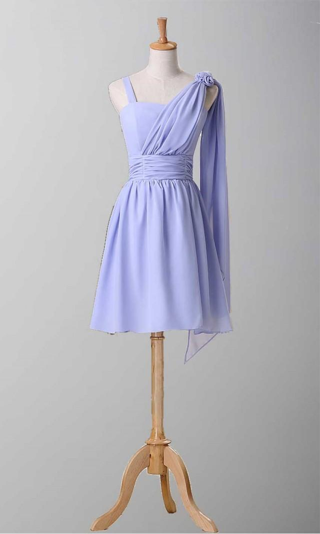 Elegan Knee Length Bridesmaid Dress With Straps Ksp069 Ksp069