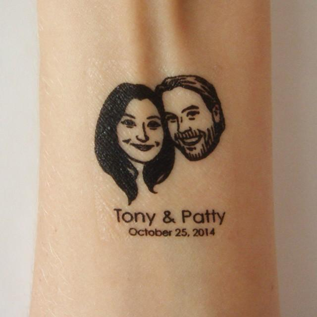 Average Price Of Wedding Gift: Personalized Temporary Tattoo Favor / Custom Wedding