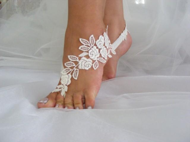Lace Barefoot Sandals Beach Wedding Sandals Wedding
