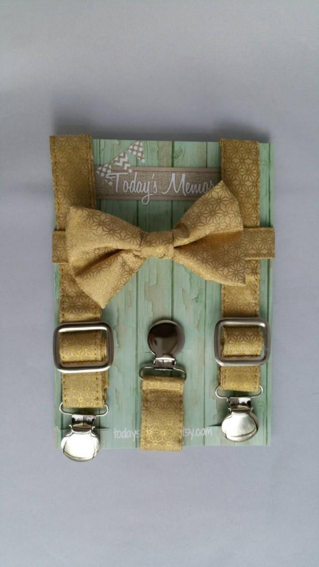 provide plenty of rock-bottom price online store Accessories - Gold Suspenders And Bow Tie Set #2429359 ...