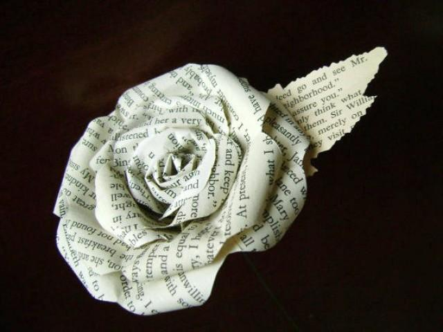 Jane austen sense and sensibility book paper flower rose made from a jane austen sense and sensibility book paper flower rose made from a recycled novel 2430173 weddbook mightylinksfo