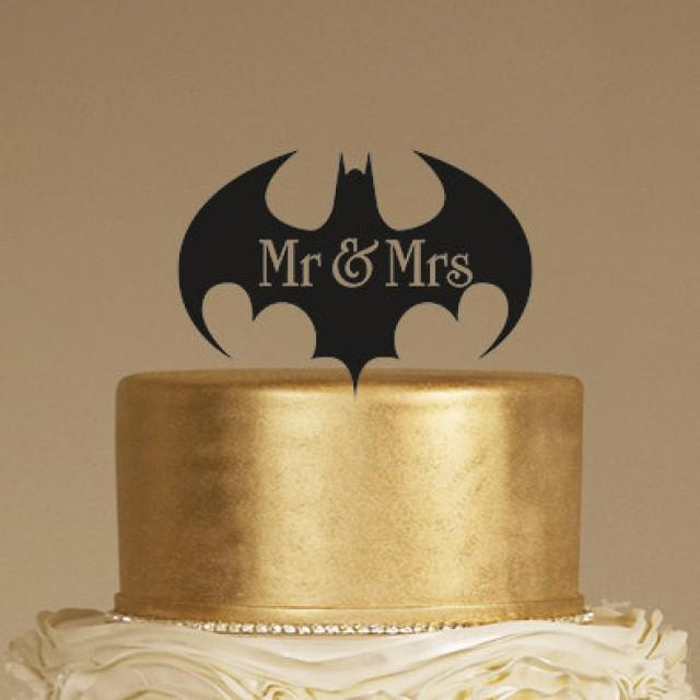 Batman Wedding Cake Topper Mr Mrs Cake Topper Rustic Cake