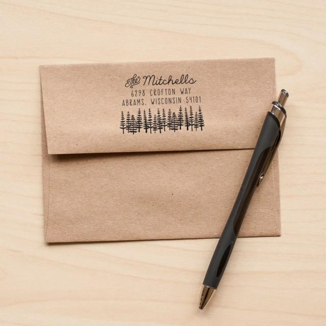 Tree Address Stamp, Return Address Rubber Stamp, Stationery Stamp,  Invitation Stamp, Custom Stamp Custom Address Wedding Stamp Calligraphy  #2430961   ...