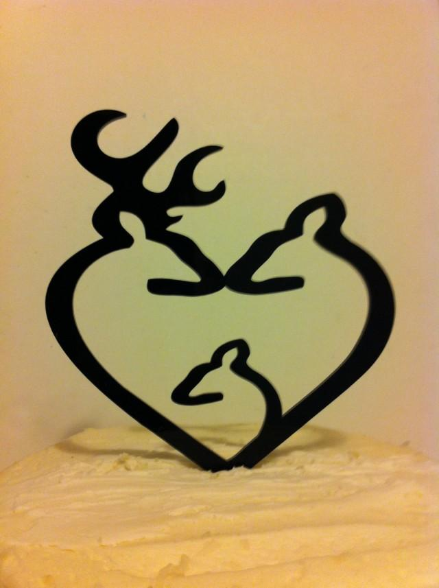 Silhouette Deer Wedding Cake Topper, Buck And Doe Wedding Cake, Baby ...