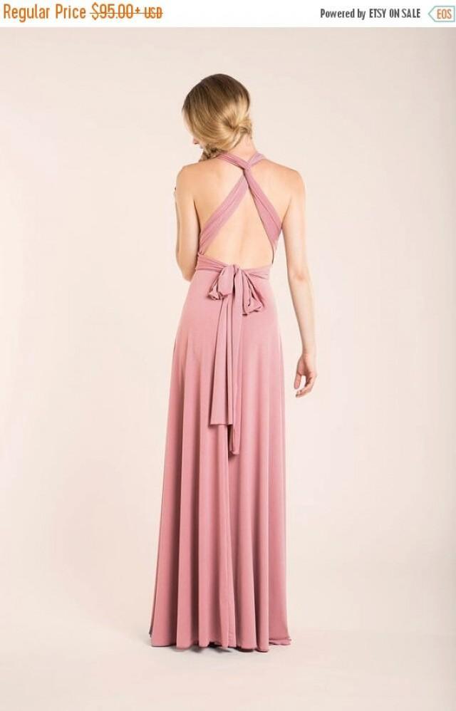 Christmas Sale Powder Pink Bridesmaid Long Dress