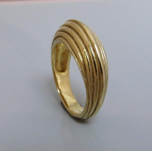 Wide Gold Ring Wide Band Ring Handmade Wedding Ring 14k Gold