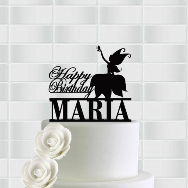 Birthday Cake Topper Decor For Name Happy 2431772