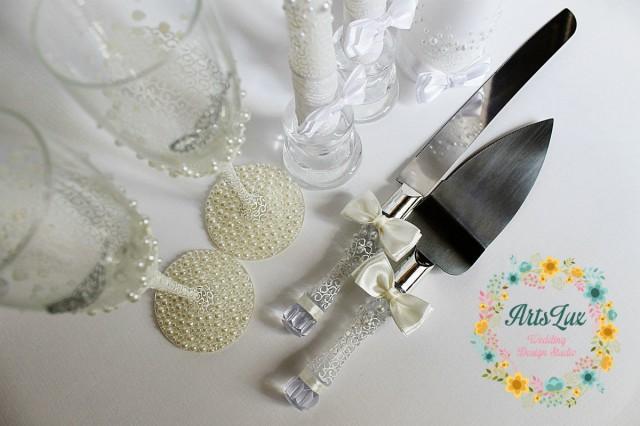 wedding cake serving set wedding cake and knife set wedding cake accessories wedding gift. Black Bedroom Furniture Sets. Home Design Ideas