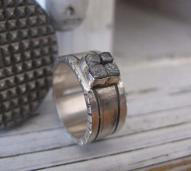 Rough Diamond Ring Size 9 Unique Ring Raw Diamond Ring