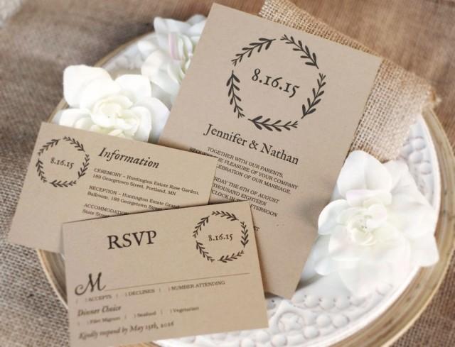 printable wedding invitation template diy wedding invitations