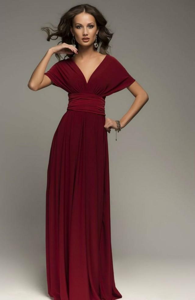 Burgundy Infinity Dress Bridesmaid Dress Wrap Convertible