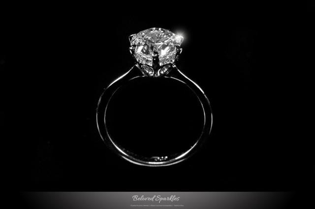 b48d5c292f334 2 Carat Solitaire .925 Sterling Silver Engagement CZ Ring, Round Cut ...